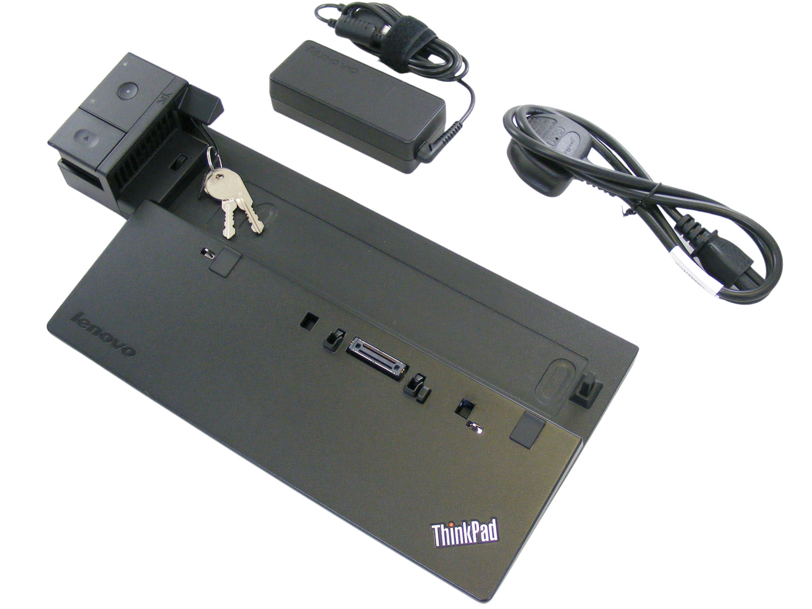 IBM Lenovo ThinkPad T450 T450s Docking Station Port Replicator w// Keys 65W PSU