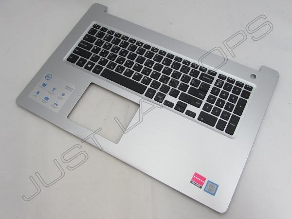 Dell Inspiron 17 5770 5775 Palmrest Keyboard Touchpad Silver GV9FW 0GV9FW